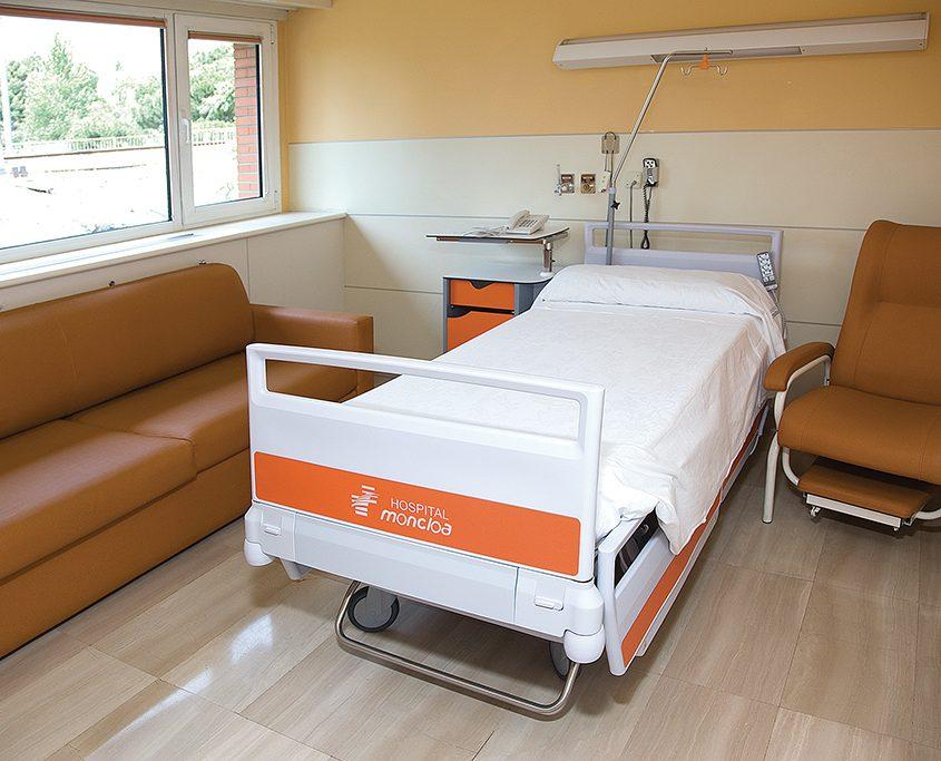 hospital universitario moncloa habitacion